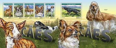 Z08 IMPERFORATED GB17204ab GUINEA-BISSAU 2017 Dogs MNH ** Postfrisch Set
