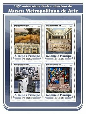Z08 IMPERFORATED ST17111a Sao Tome and Principe 2017 Metropolitan Museum MNH **