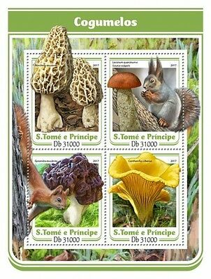 Z08 IMPERFORATED ST17113a Sao Tome and Principe 2017 Mushrooms MNH ** Postfrisch