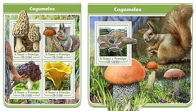 Z08 IMPERFORATED ST17113ab Sao Tome and Principe 2017 Mushrooms MNH ** Postfrisc