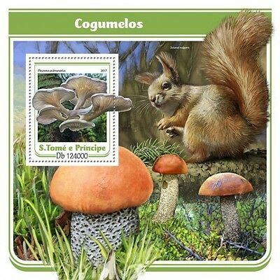 Z08 IMPERFORATED ST17113b Sao Tome and Principe 2017 Mushrooms MNH ** Postfrisch
