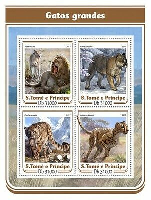 Z08 IMPERFORATED ST17115a Sao Tome and Principe 2017 Big cats MNH ** Postfrisch