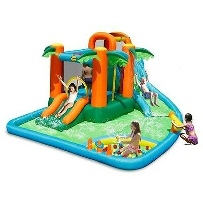 The Oasis 7 in 1 Bouncy Castle 14ft Waterpark -  Happy Hop