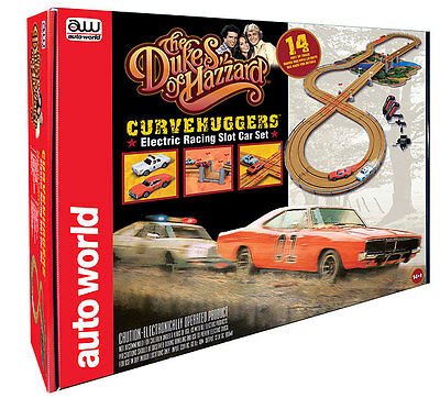 The Dukes of Hazzard - Curvehuggers / Slot Car Race Set - By Autoworld