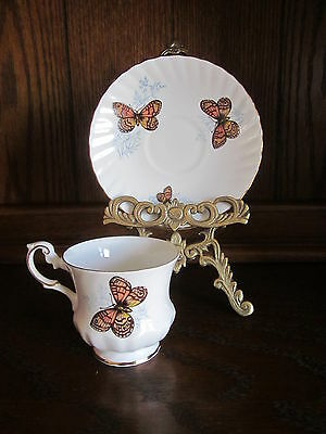 Rosina Queen's Wall Brown Teacup & Saucer