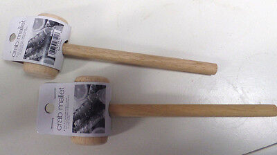 """Crab Mallet--Lot Of 2--7.5"""" Mallet Is Great For Cracking Stubborn Lobster Or Cra"""