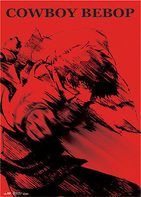 **Legit Poster** Cowboy Bebop Spike Red Background Key Art Wallscroll #60603