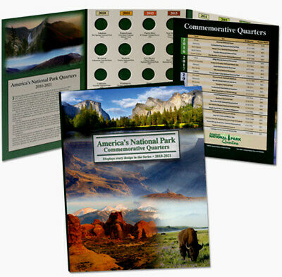 America the Beautiful State Parks Deluxe Folder with 36 Uncirculated S Quarters
