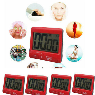 Large LCD Digital Kitchen Timer Count-Down Up Clock Loud Alarm LQ