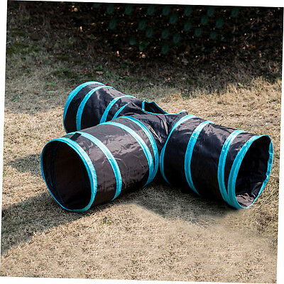 Foldable Home Pet Dog Cat Playing Toy 3 Ways Pet Finding Tunnel Toys LQ