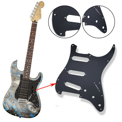 3 Ply Electric Guitar Pickguard Scratch Plate For Strat Stratocaster Black New
