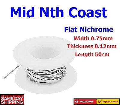 Ni-Chrome Wire 0.12mm x 0.75mm Flat Heater Wire for Heating Elements 50cm Length