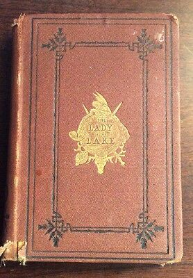 The Lady Of The Lake (1872, Hardcover) Sir Walter Scott Rare PreOwnedBook.com