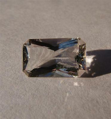 Genuine 2.6 Carat - Faceted Herkimer Diamond from NY - 11 x 7  Octagon Cut - AAA