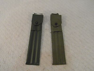 (2) Military Surplus Olive Drab Green M1 Three Piece Cleaning Rod & Case 33894