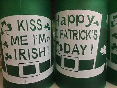 Lot of 6 Plastic Freezer Mugs Kiss Me I'm Irish