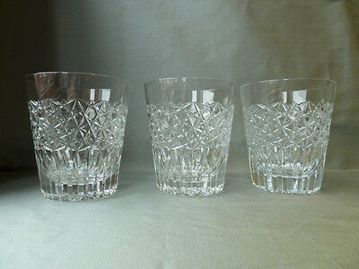 3 Royal Doulton Crystal Water/Whisky Glasses, h10,5cm, 300ml