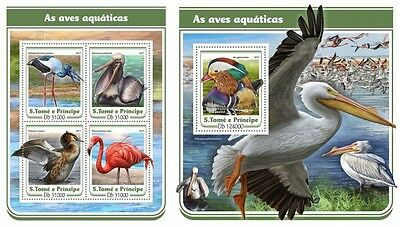 Z08 IMPERFORATED ST17118ab Sao Tome and Principe 2017 Water birds MNH Fresh post
