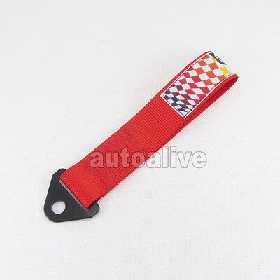 High Strength Racing Tow Strap Set For Front/rear Bumper Hook Truck Red