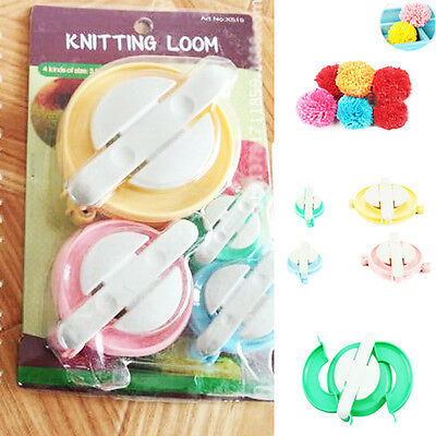 4 Size Fluff Ball Pompom Makers Needle Knitting Weaver Wool Tool DIY Pompom Make