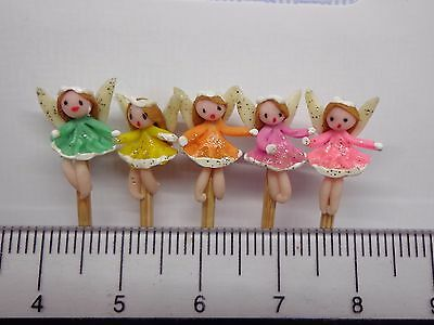 1:12 Hand Made Fairies (5)On A Stick Dolls House Miniature Nursery