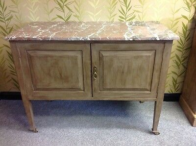 Stunning Antique Painted Washstand With Marble Top. Shabby Chic/french Style.