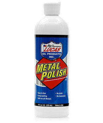 Lucas Metal Polish - Safe For All Metals Cleans & Protects 473ml - Made in USA