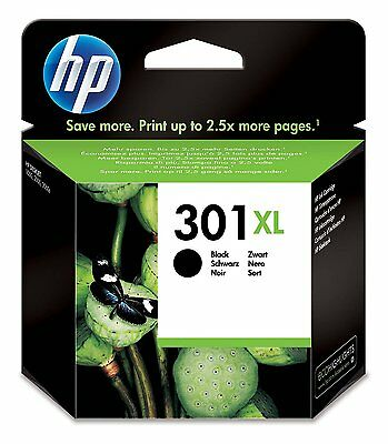 Genuine Original HP 301XL High Capacity Black Ink Cartridge for Deskjet 1514 301