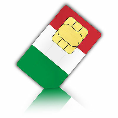 Prepaid Sim Card for use in italy includes a Phone number +4GB Data