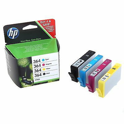Genuine HP 364 Combo Pack Set 4 Ink B/C/M/Y for HP Photosmart 5520 (SD534EE) New