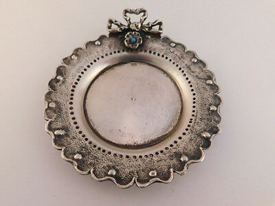 Sterling Silver Turquoise Tip Tray Small Platter Dresser Tray 925