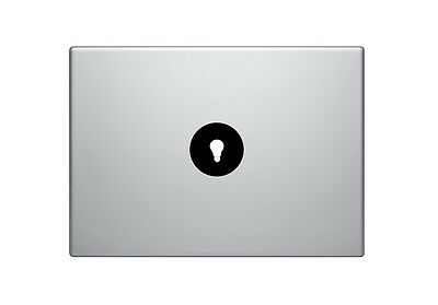 Light Bulb Mac Apple Logo Cover Laptop Vinyl Decal Sticker Macbook 11 13 15 17""