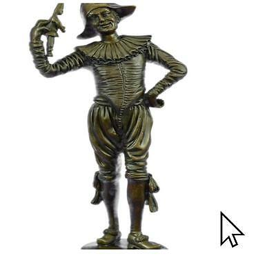 Handcrafted Bronze Gueyton Reproduction Sculpture Of The Jester Figurine  A