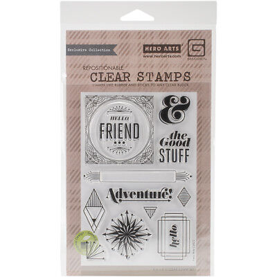 Hero Arts CL822 Basic Grey Aurora Clear Stamps By -The Good Stuff