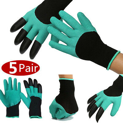 Hot Garden GENIE Gloves For Digging&Planting with4 ABS Plastic Claws Gardening U