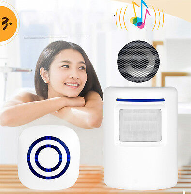 Welcome Motion IR Sensor Alarm Wireless Light Entry Shop Visitor Store Doorbell