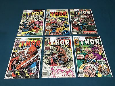 Marvel Comics The Mighty Thor Lot Of 6 #260-295