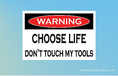 Touch My Tools Snap On Draper Hilti Stanley Tool Box Sticker Funny C178