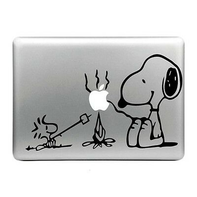 SNOOPY PEANUT Apple Logo Cover Laptop Vinyl Decal Sticker Macbook 11 13 15 17""