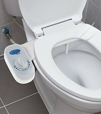 Fresh Water Bidet Non-Electric Mechanical Toilet Seat Spray Nozzle Attachment