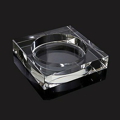 Square Glass Ashtray, Size 10 x 10 x 3 CM Home Office Bar Cafe Hotel Restaurant