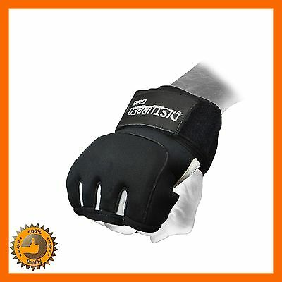 Quick Wrap Gel Punch Training Gloves Boxing Muay Thai Mma Ufc Gym Sparring Sz L