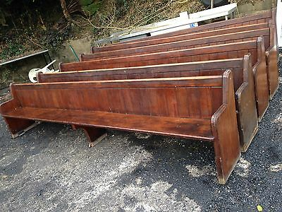 Vintage Antique Church Pew Seating Settle Pub Restaurant Bench 12ft Long