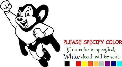 """Mighty Mouse Vinyl decal sticker Car Truck Window Laptop Graphic Die Cut 6"""""""