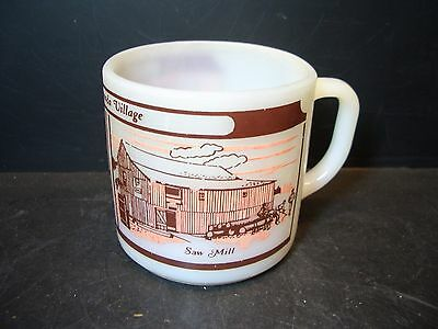 Vintage Federal Glass Upper Canada Village Milk Glass Mug