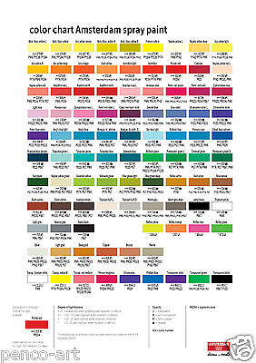 Amsterdam water based acrylic spray paint  Choose from 46 colours in 400ml cans