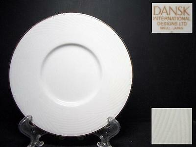 Beautiful Dansk Brocade Gold Saucer Only [4]- Tapestries Winter White