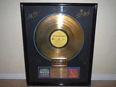 ROLLING STONES RIAA GOLD RECORD AWARD SOME GIRLS Pres to STONES w/FACS AUTOGRPHS
