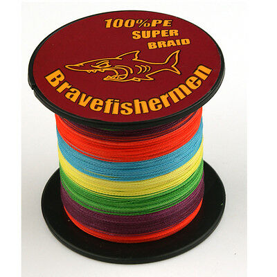 Hot 100% PE Multi-Color 100-1000M 6-300LB Dyneema Power Super Braid Fishing Line