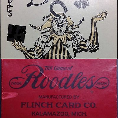1912 American Playing Cards Obsolete Good Luck Fortune Antique Game Deck + Joker